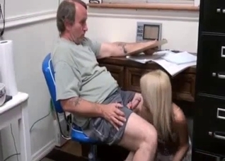 Daddy does the daughter's homework for a BJ