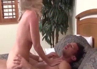 Super hot mom fucks with muscled son