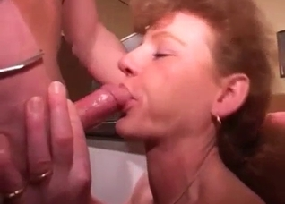 Grown-up son uses his mother for pleasure