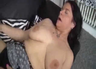 Mom masturbates her pussy and gets fingered