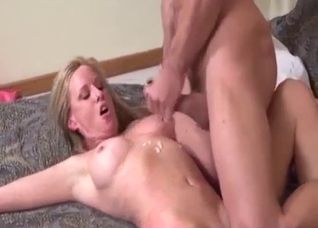 Muscular son force fucking his mother