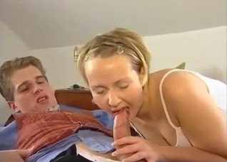 Mommy will suck her good son's cock