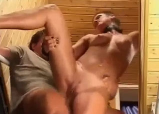 Nasty punk sister takes cock on stairs
