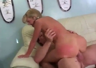 Daughter rides dad's cock with her ass