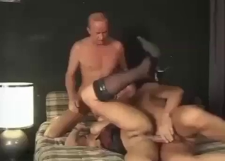 Daughter teamed by son and father