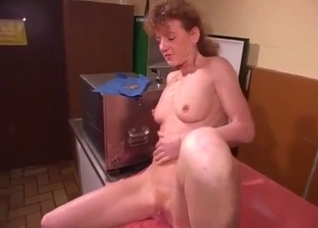 Mature redhead and her adult son