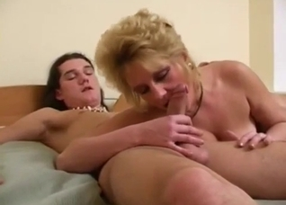 Mother and son have passionate sex