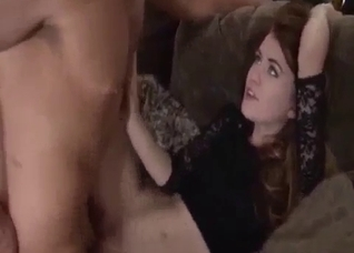 Tight pussy redhead daughter fucked hard