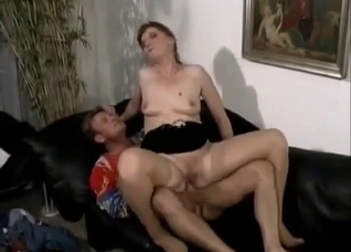 German mature in reverse cowgirl, rough