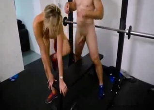 Busty mother fucked instead of a workout