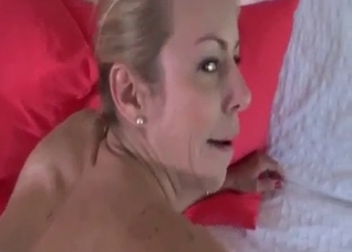 Busty mommy POV blowjob and titty fuck