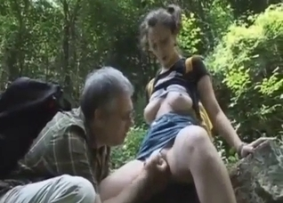 Hiking with a busty daughter leads to sex
