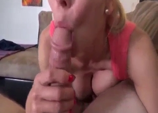 Mommy can't wait to lick that cock