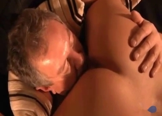 Father slowly licking pussy in 69
