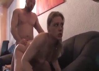 Dad destroys daughter's ass for misbehavior