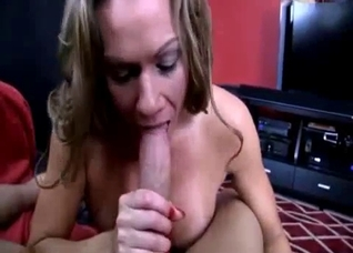 Mom licks her lips in blowjob anticipation