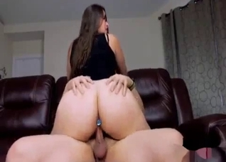 Big ass mother rides in a cowgirl position