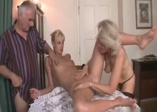 Mommy is licking her daughter's body