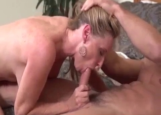 Muscular son fucks his hot mother
