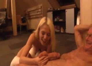 Grandpa is in love with this tight young cunt