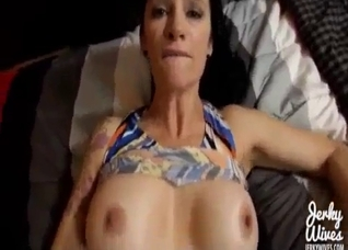 Mom with tattoos fucked in POV