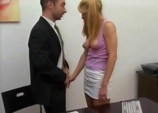 Blonde gets hypnotized to suck father's cock