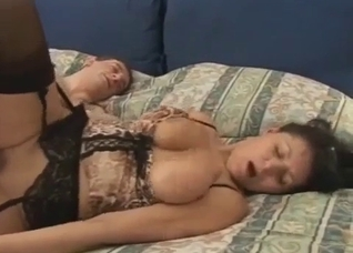 Old mature in stockings missionary fucked