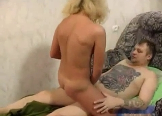 Tattooed father fucking his horny daughter