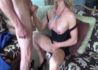 Muscular grandpa and his hot mature daughter