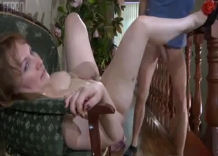 Chubby mother fucked by son's cock