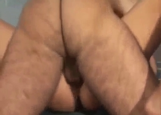 Hairy father banging tight sweet pussy