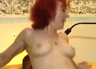 Sex-loving granny rides a hard dick