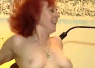 Sex-loving granny rides a hard dick