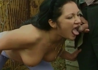 Teen babe drinking piss of her grandpa