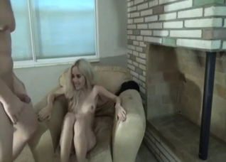 Skinny blonde humping with a muscular bro