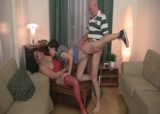 Mom and daughter have to suck dad's dick