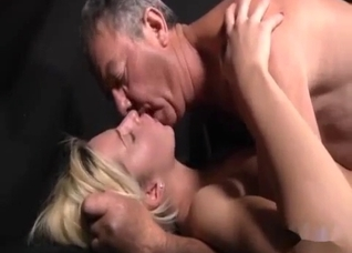 Sexy skinny daughter fucked by an old dad