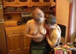 Russian mother seduces her son at breakfast
