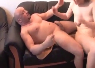 Perverted dad fucking his daughter at home