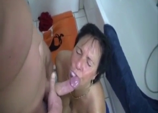 Incest mouth fuck with mature mom
