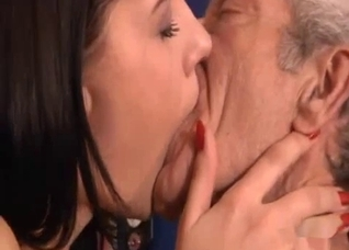 Caring granddaughter sucking an old dick