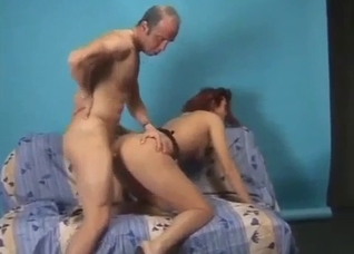Daughter is naked on all fours, fucked hard