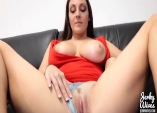 Busty mommy POV sex in a missionary pose