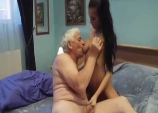Granddaddy has a big cock for his young girl