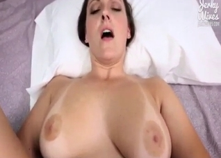 Busty big natural daughter fucked in POV